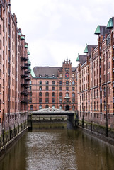 Hamburg, Germany. Old warehouse port district