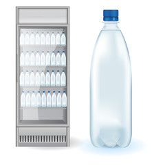 Fridge Drink with bottles of water