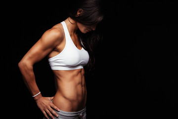 Fit female model with perfect torso Wall mural