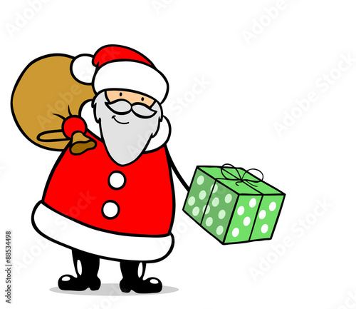 weihnachtsmann mit geschenk zu weihnachten stockfotos. Black Bedroom Furniture Sets. Home Design Ideas