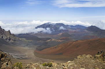 Haleakala volcano or  East Maui Volcano. Maui, Hawaii