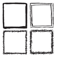 Grunge frame texture set - Abstract design template. Stock vector