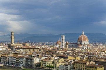 Cathedral and Palazzo Vecchio, Florence, Italy