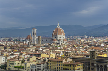 Cathedral and city view of Florence, Italy