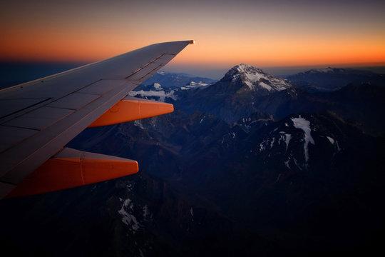 Flight over Aconcagua