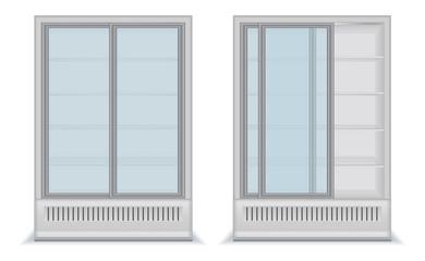 efrigerator with glass door