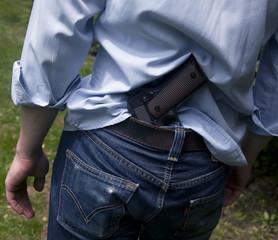 a man with a gun Colt