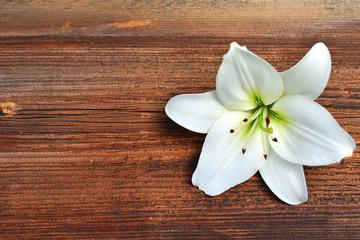 Blumen auf  Holz Hintergrund