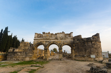 Domitian gate of anciet city of Hierapolis, Pamukkale, Turkey