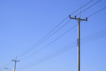 High voltage electricity pole