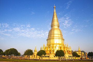 Sunshine morning golden pagoda