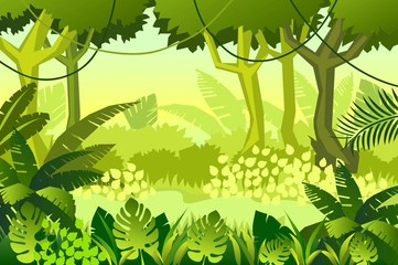 wild Wood. jungle. Vector Illustration