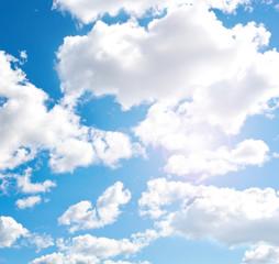 Blue cloudly sky