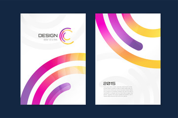 Vector brochure template. Abstract design and creative magazine