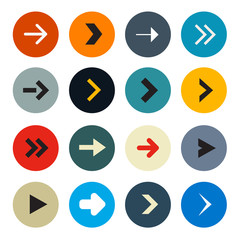 Vector Colorful Circle Arrows Set for Application or Web Icons