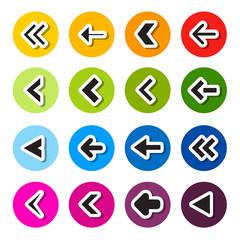 Colorful Circle Arrows Set