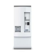 White soda vending machine