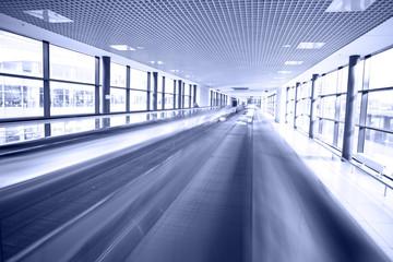 Modern escalatorin airport
