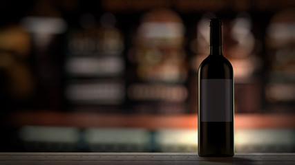 Wine Bottle in bar
