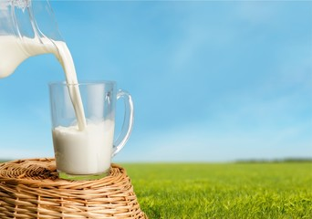 Fototapeta Milk, Dairy Product, Pouring. obraz