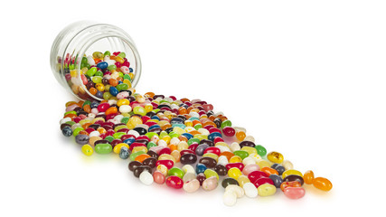 Gourmet Jelly Beans Spilling Out