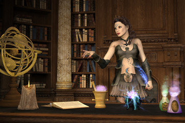 Witch's Brew - A powerful witch talks to her protégée as she brews a magical potion to use in a spell.