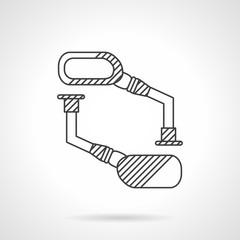 Bike mirrors line vector icon