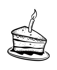 cake slice with candle