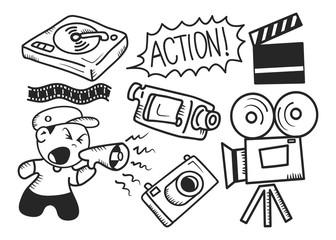 Film industry doodle