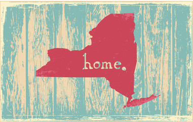 New York nostalgic rustic vintage state vector sign