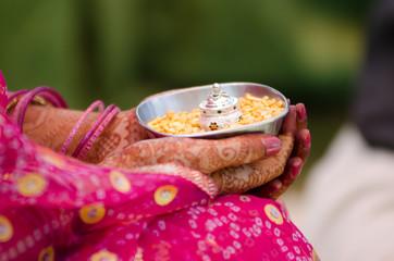 henna ,saree, wedding, bride ,Rajasthan, India