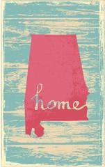 Alabama nostalgic rustic vintage state vector sign