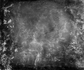 black white grunge texture background with frame