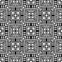 Abstract black and white seamless vector background