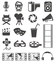 Movie icons/ Movie icons derived from items used in the film industry