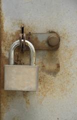 old padlock background