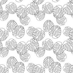 Monstera floral pattern