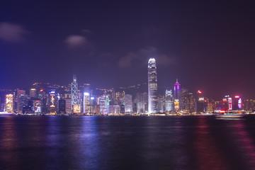 Victoria Harbor at Hong Kong