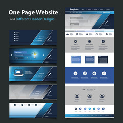 Website Template for Your Business with Six Different Header Design