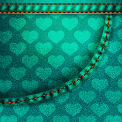 Background pattern. Texture of denim fabric.
