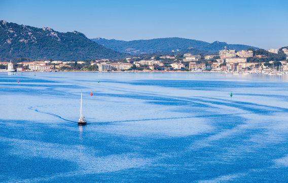 Morning landscape of Porto-Vecchio bay, Corsica