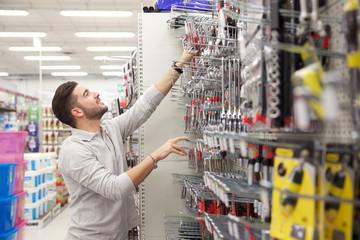 customer at tool store