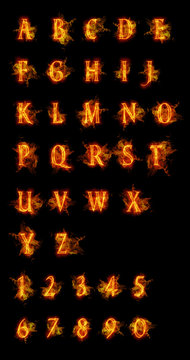 Fire font collection.