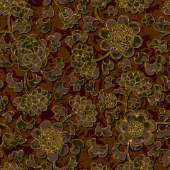 seamless floral damask pattern background
