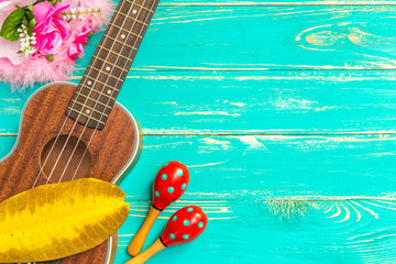 Ukulele Background / Ukulele / Ukulele with Hawaii Style Background