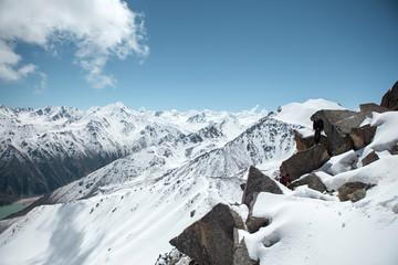 Trans-Ili Alatau mountains. On the way to Big Almaty peak.