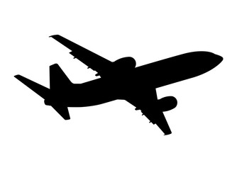 plane silhouette on a white background, vector illustration Wall mural