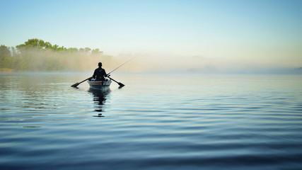 Рыбалка утром на речке