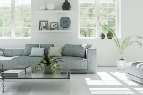 Wohnzimmer in Altbauwohnung\