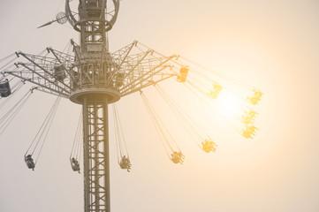 flying swing in theme park
